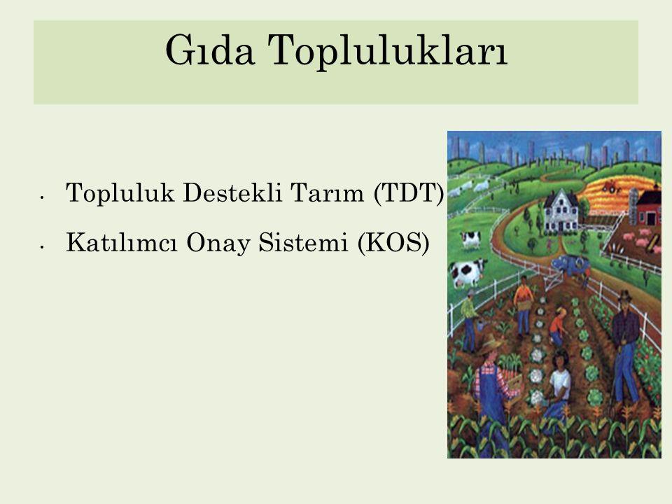 Gıda Toplulukları Topluluk Destekli Tarım (TDT)