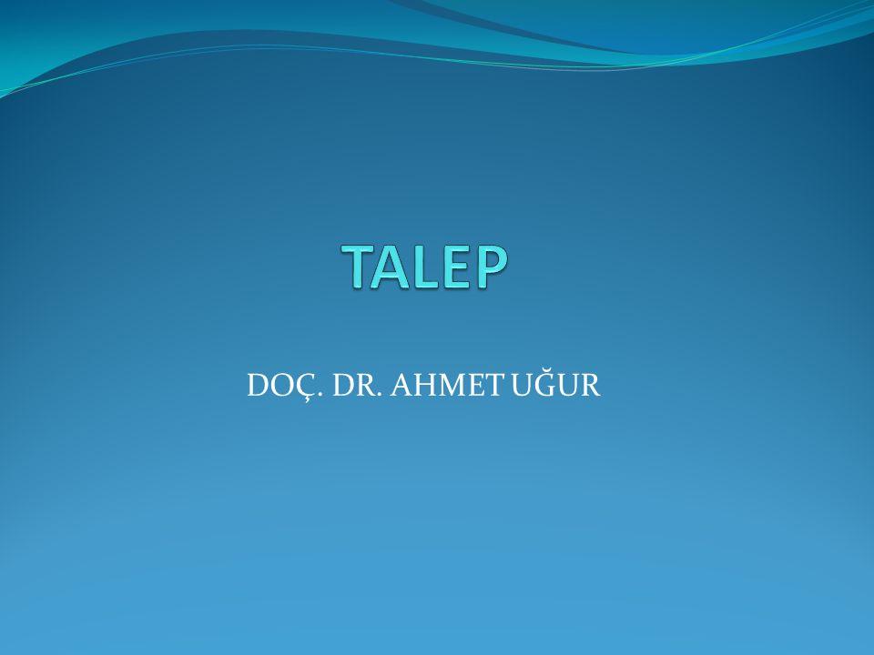 TALEP DOÇ. DR. AHMET UĞUR