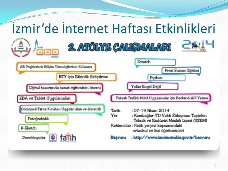İzmir'de İnternet Haftası Etkinlikleri