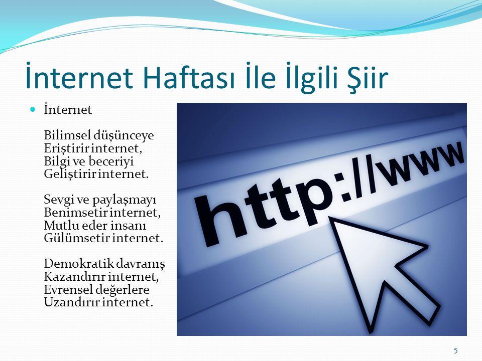 İnternet Haftası İle İlgili Şiir