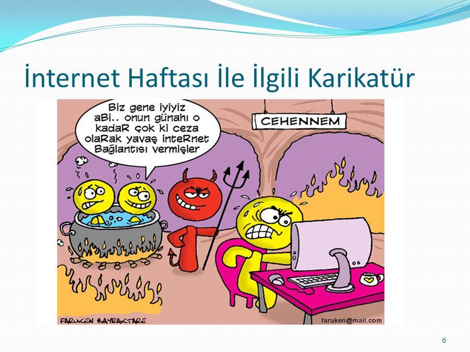 İnternet Haftası İle İlgili Karikatür