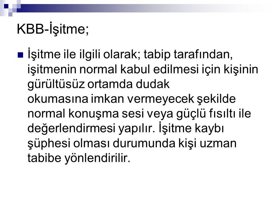 KBB-İşitme;