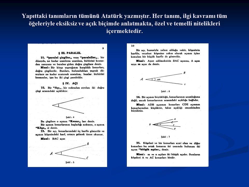 Yapıttaki tanımların tümünü Atatürk yazmıştır