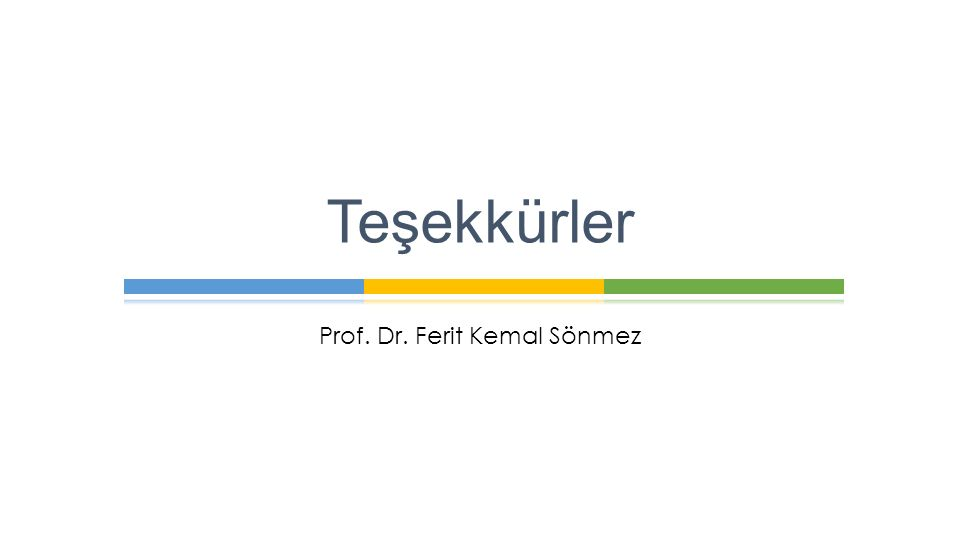 Prof. Dr. Ferit Kemal Sönmez