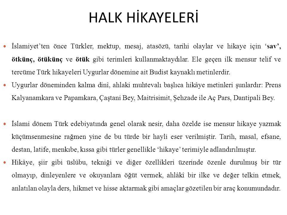 HALK HİKAYELERİ