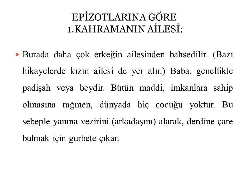 EPİZOTLARINA GÖRE 1.KAHRAMANIN AİLESİ: