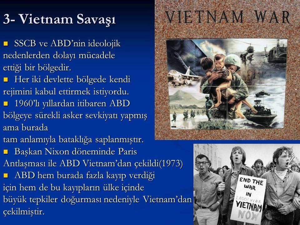 3- Vietnam Savaşı SSCB ve ABD'nin ideolojik