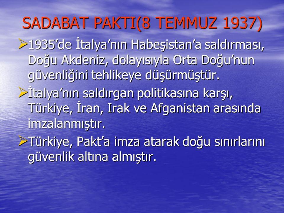 SADABAT PAKTI(8 TEMMUZ 1937)