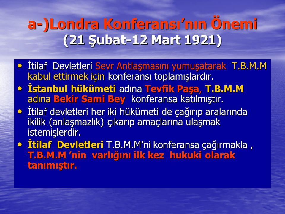 a-)Londra Konferansı'nın Önemi (21 Şubat-12 Mart 1921)