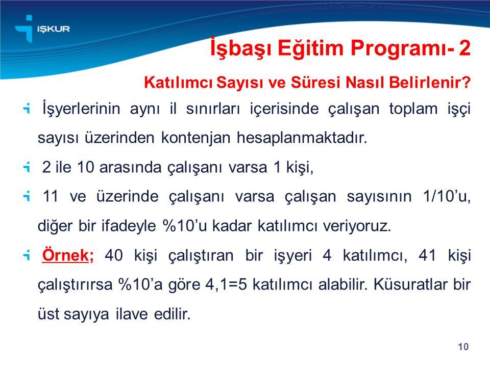 İşbaşı Eğitim Programı- 2