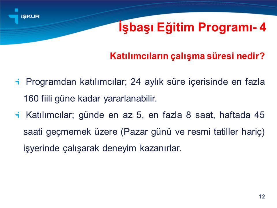 İşbaşı Eğitim Programı- 4