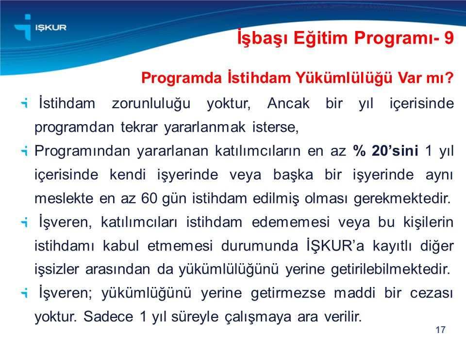 İşbaşı Eğitim Programı- 9