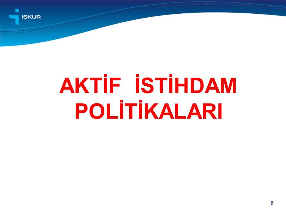 AKTİF İSTİHDAM POLİTİKALARI
