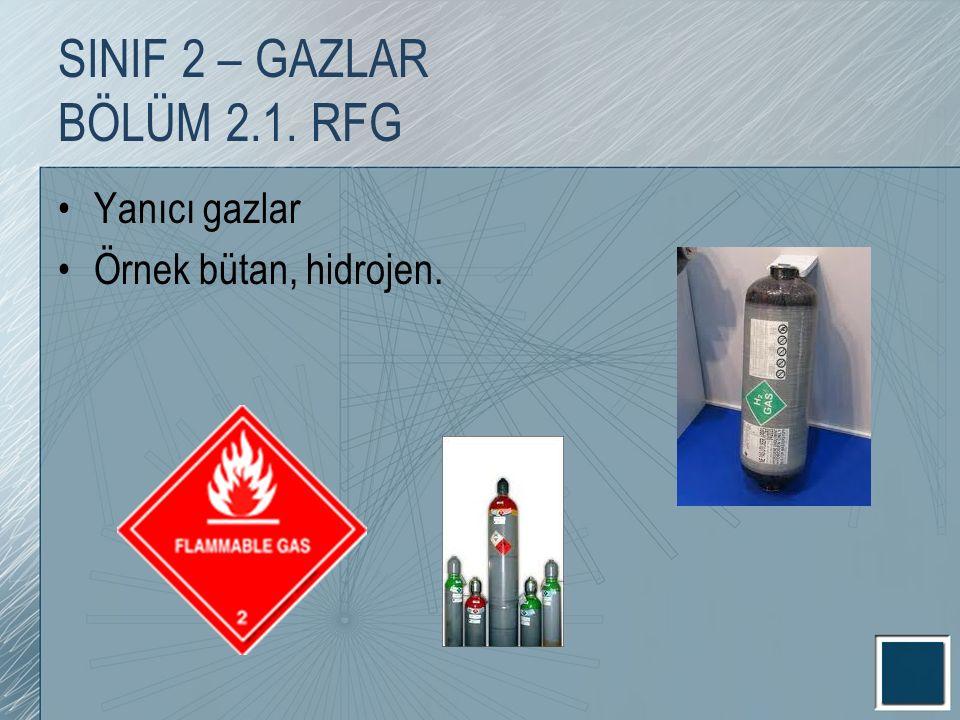 SINIF 2 – GAZLAR BÖLÜM 2.1. RFG