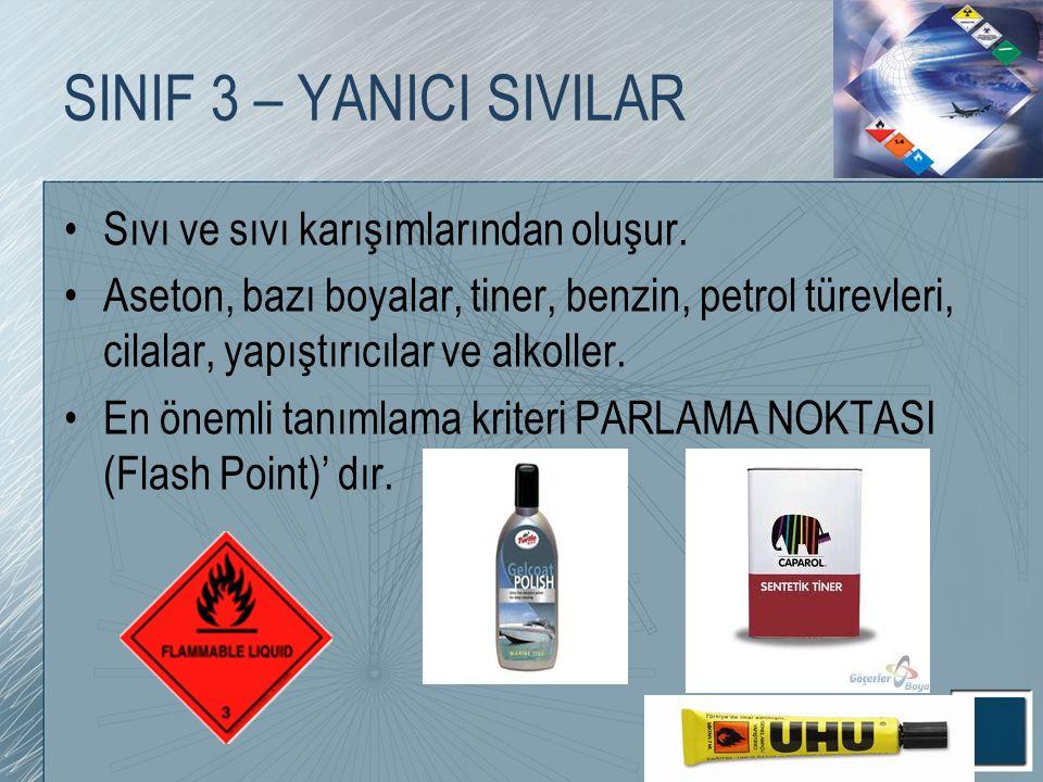 SINIF 3 – YANICI SIVILAR Sıvı ve sıvı karışımlarından oluşur.