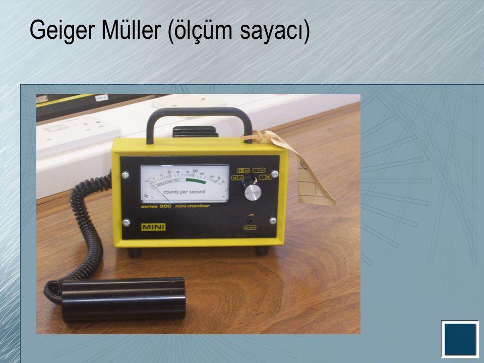 Geiger Müller (ölçüm sayacı)