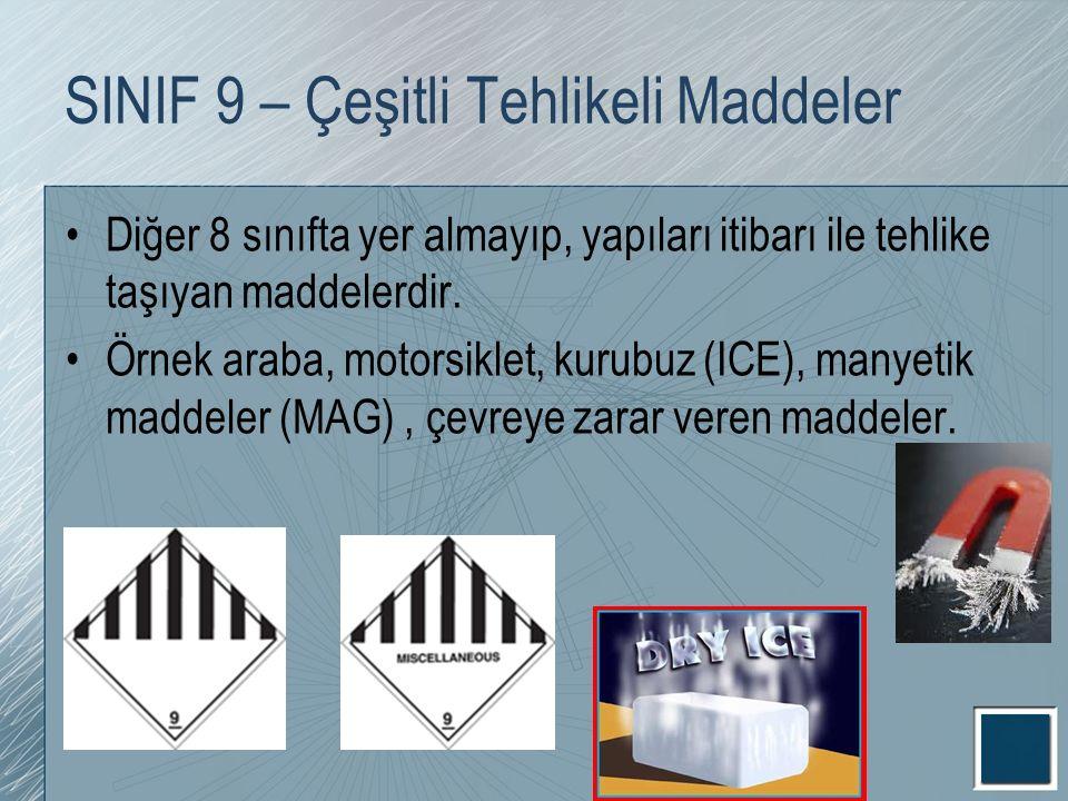 SINIF 9 – Çeşitli Tehlikeli Maddeler