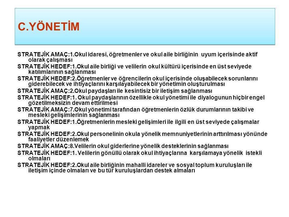 C. EĞİTİME DESTEK HİZMETLERİ