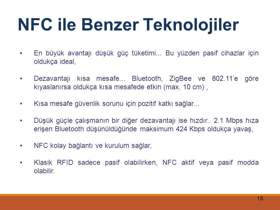 NFC ile Benzer Teknolojiler