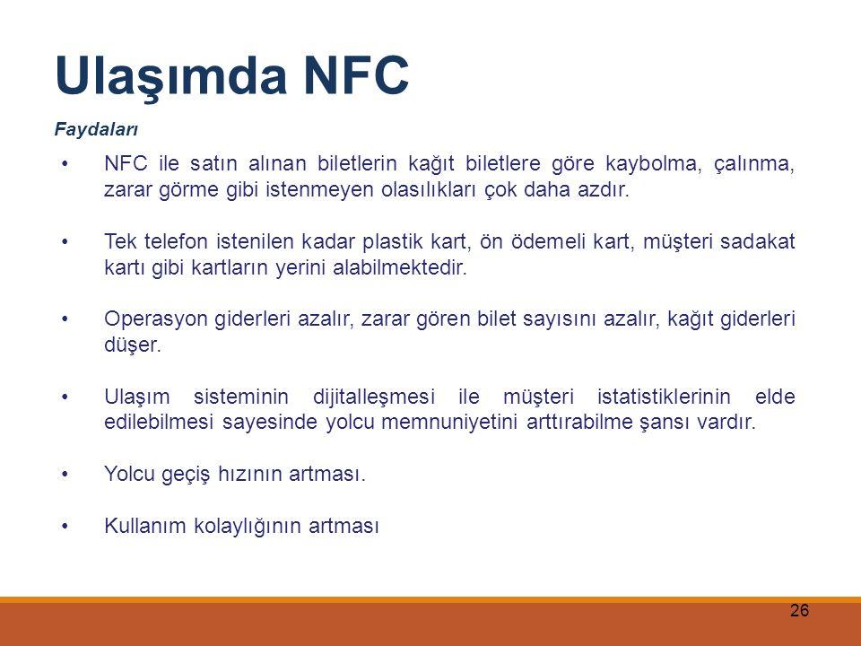 Ulaşımda NFC Faydaları.