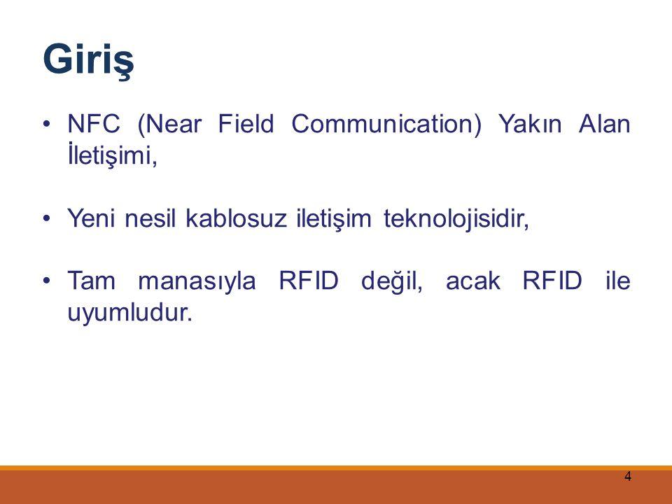 Giriş NFC (Near Field Communication) Yakın Alan İletişimi,