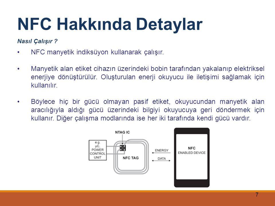 NFC Hakkında Detaylar NFC manyetik indiksüyon kullanarak çalışır.