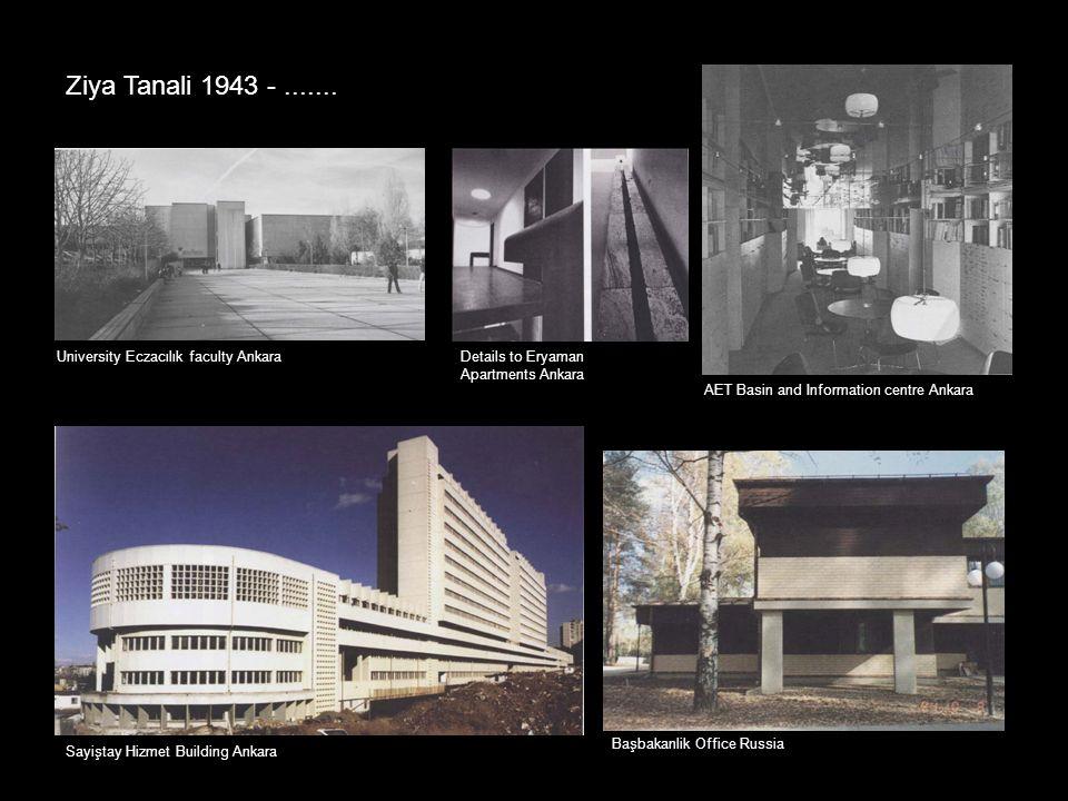 Ziya Tanali 1943 - ....... University Eczacılık faculty Ankara