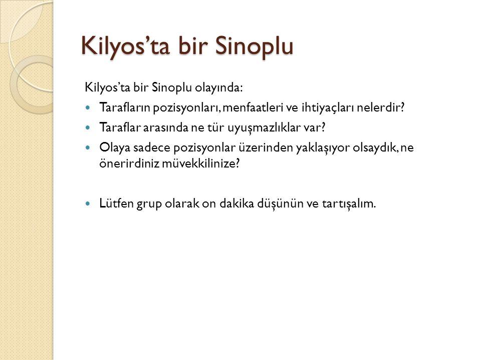 Kilyos'ta bir Sinoplu Kilyos'ta bir Sinoplu olayında: