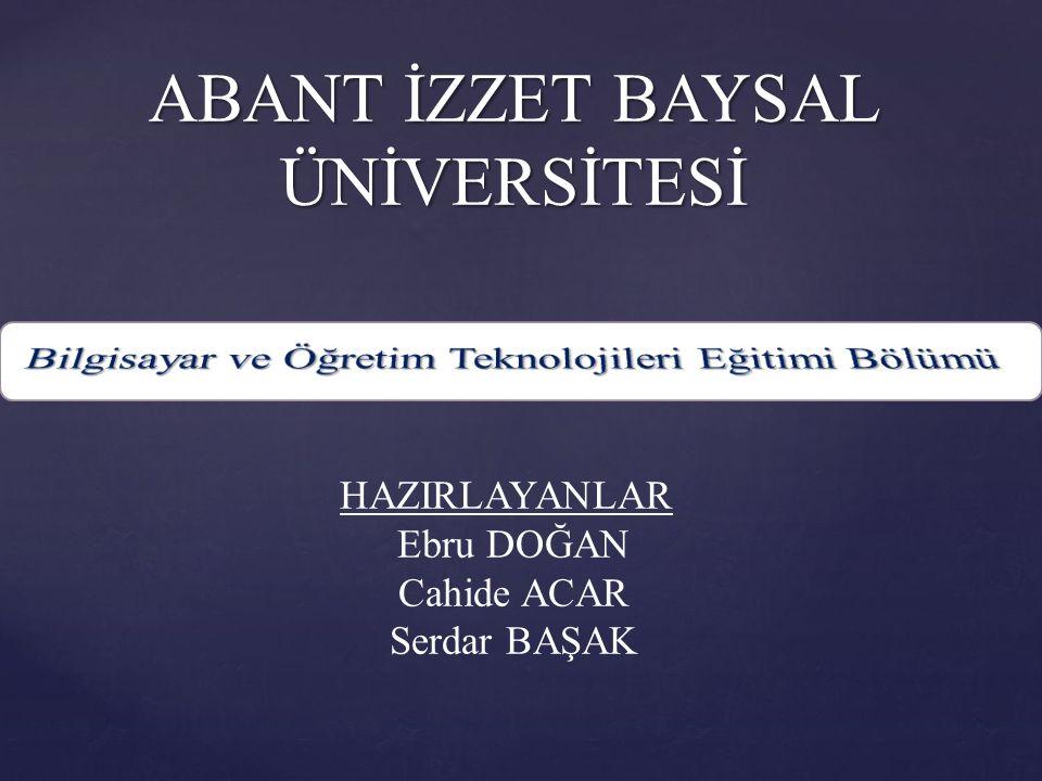ABANT İZZET BAYSAL ÜNİVERSİTESİ