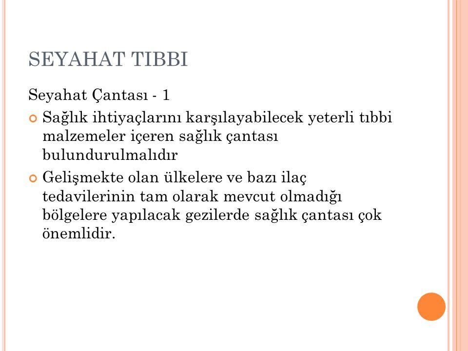 SEYAHAT TIBBI Seyahat Çantası - 1