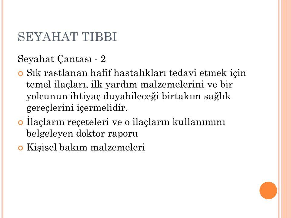 SEYAHAT TIBBI Seyahat Çantası - 2