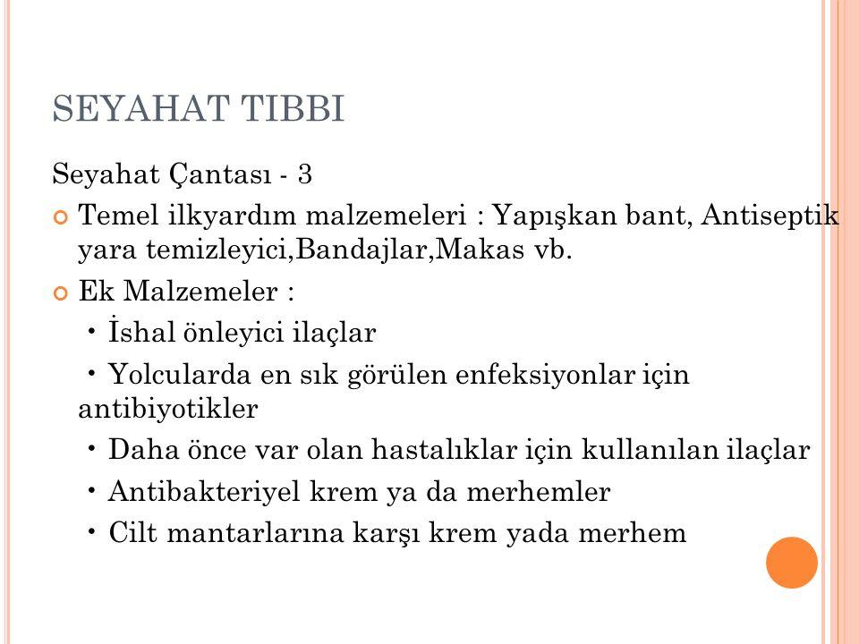 SEYAHAT TIBBI Seyahat Çantası - 3