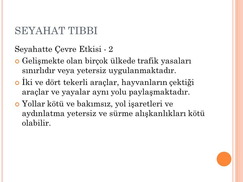 SEYAHAT TIBBI Seyahatte Çevre Etkisi - 2