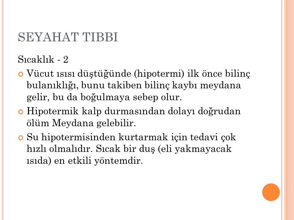 SEYAHAT TIBBI Sıcaklık - 2