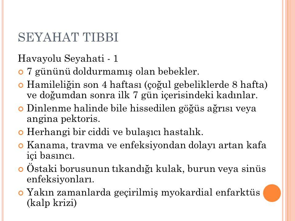 SEYAHAT TIBBI Havayolu Seyahati - 1
