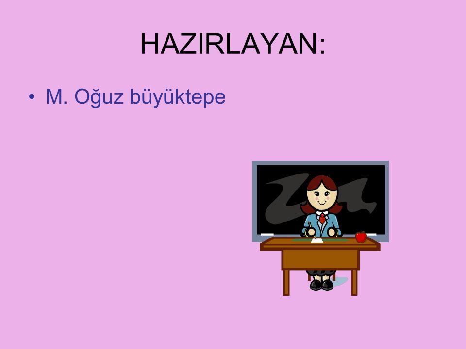 HAZIRLAYAN: M. Oğuz büyüktepe www.egitimhane.com