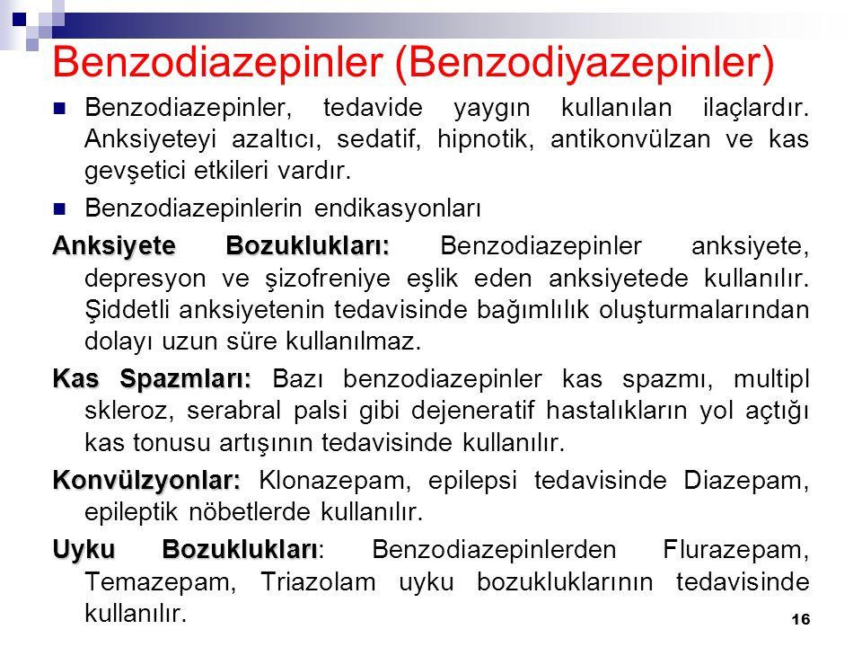 Benzodiazepinler (Benzodiyazepinler)