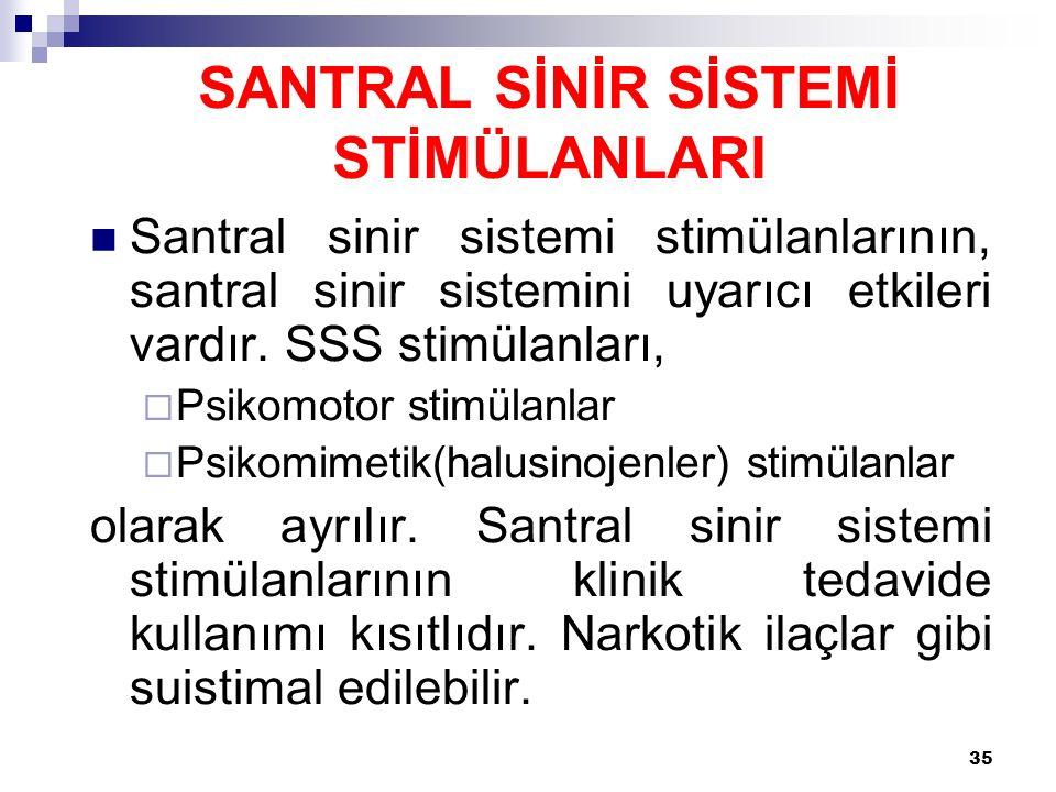 SANTRAL SİNİR SİSTEMİ STİMÜLANLARI