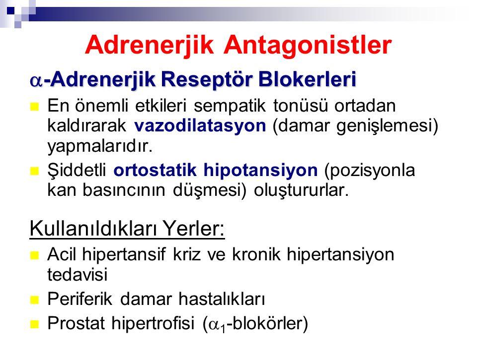 Adrenerjik Antagonistler