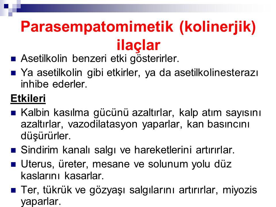 Parasempatomimetik (kolinerjik) ilaçlar
