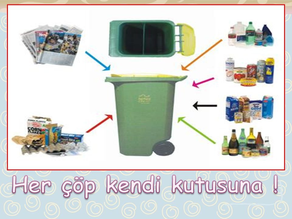Her çöp kendi kutusuna !