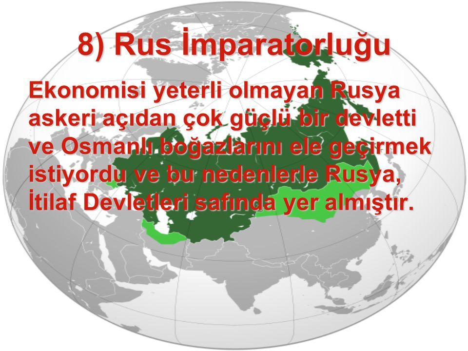 8) Rus İmparatorluğu