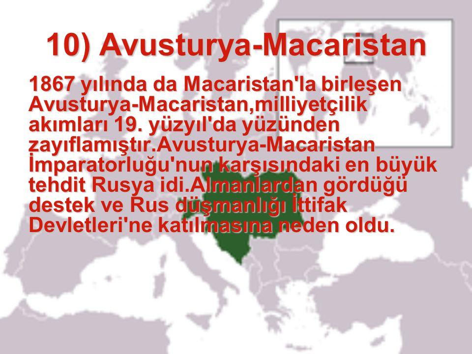 10) Avusturya-Macaristan