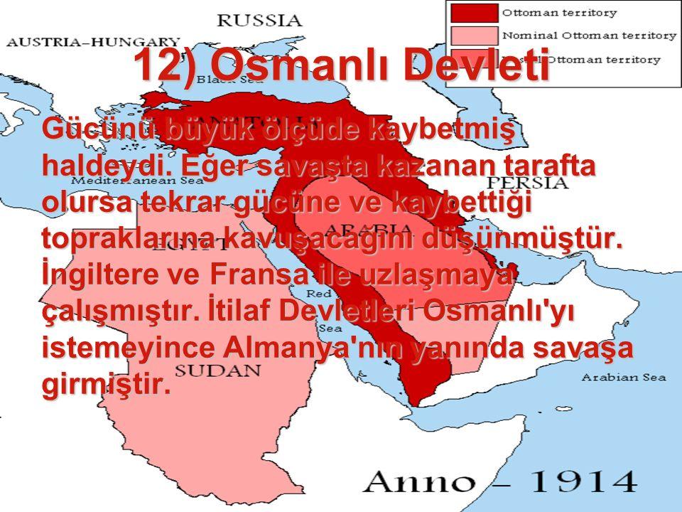 12) Osmanlı Devleti