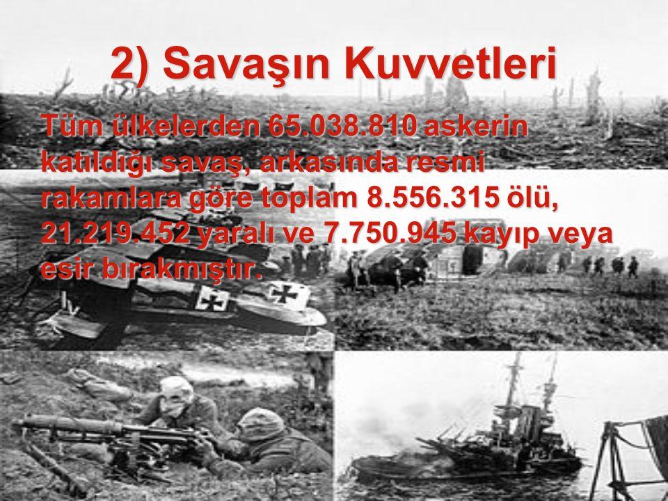 2) Savaşın Kuvvetleri