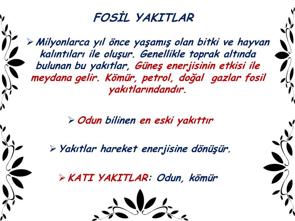 FOSİL YAKITLAR
