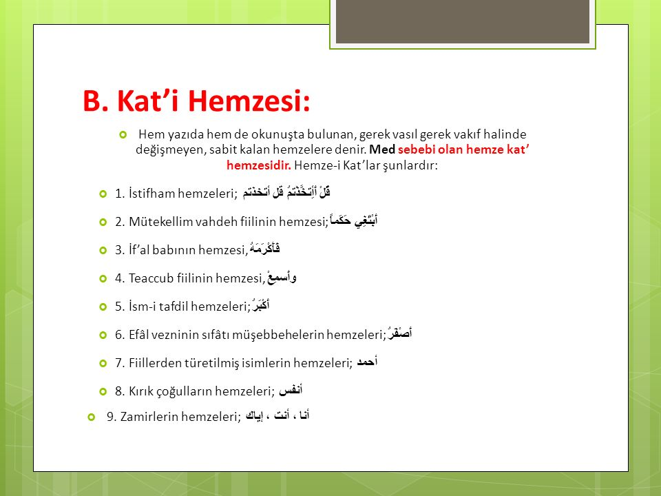 B. Kat'i Hemzesi: