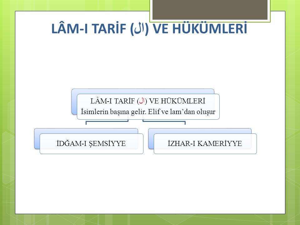 LÂM-I TARİF (ال) VE HÜKÜMLERİ