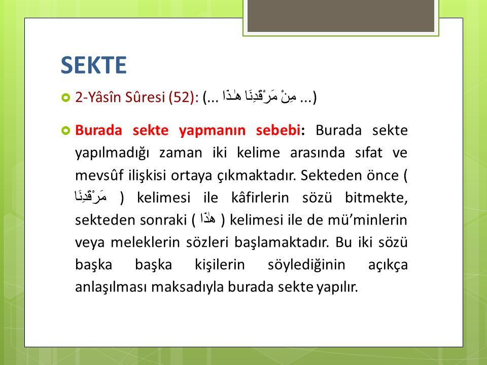 SEKTE 2-Yâsîn Sûresi (52): (... مِنْ مَرْقَدِنَا هٰـذَا ...)