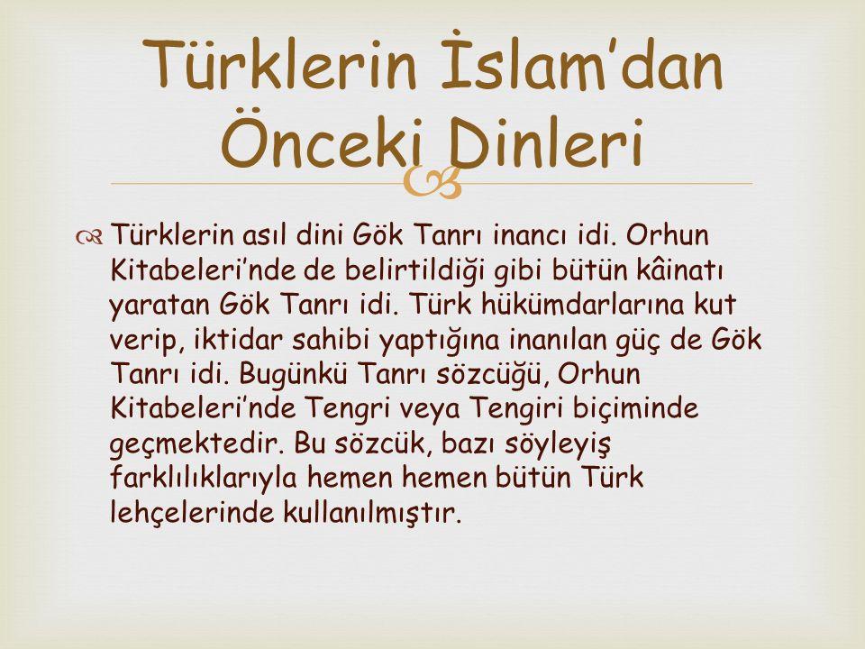 Türklerin İslam'dan Önceki Dinleri
